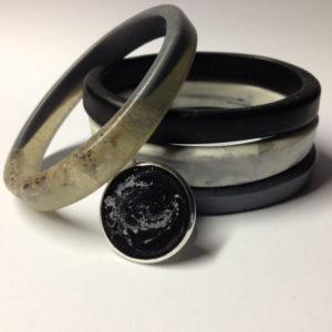 Resin Jewellery Graphite Stack