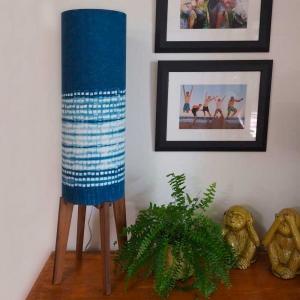 Rocket Lamp with Shibori Shade