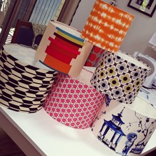 Lampshades of various styles