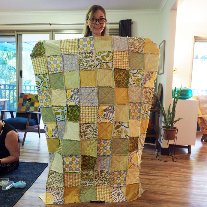 Community Quilt Project - Yellow quilt