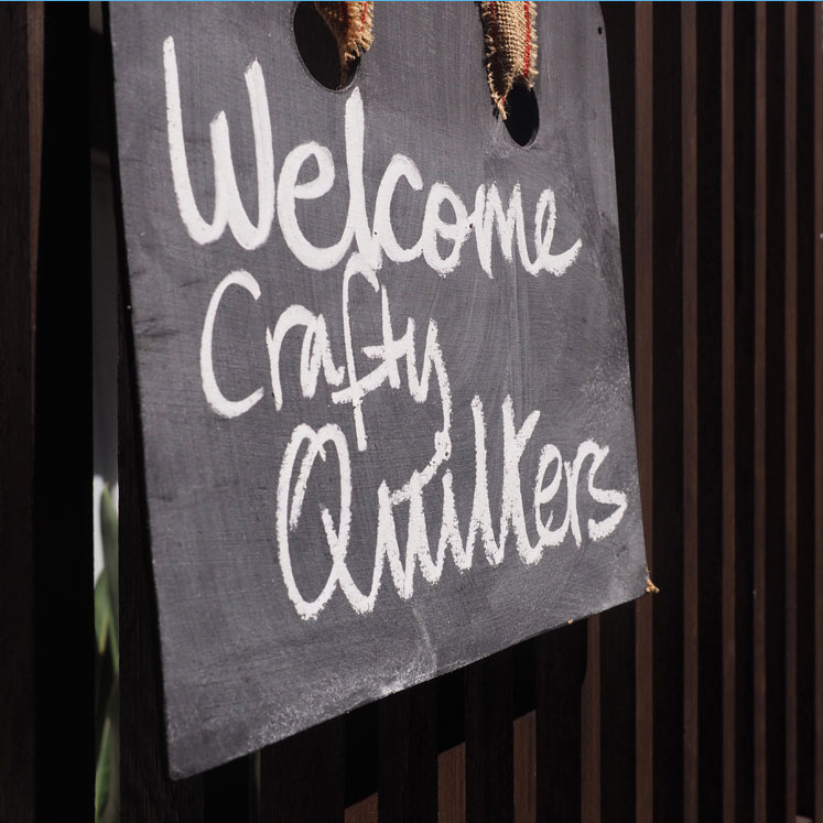 Community Quilt Project - welcome sign