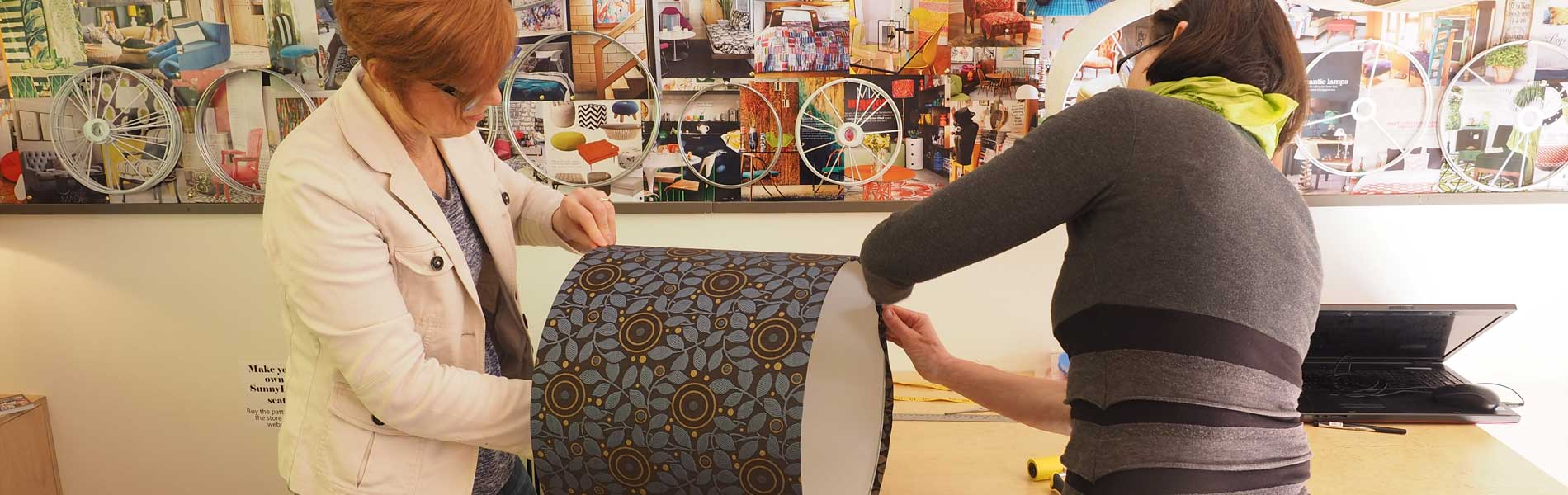 Lampshade workshops and lessons at Ministry of Handmade