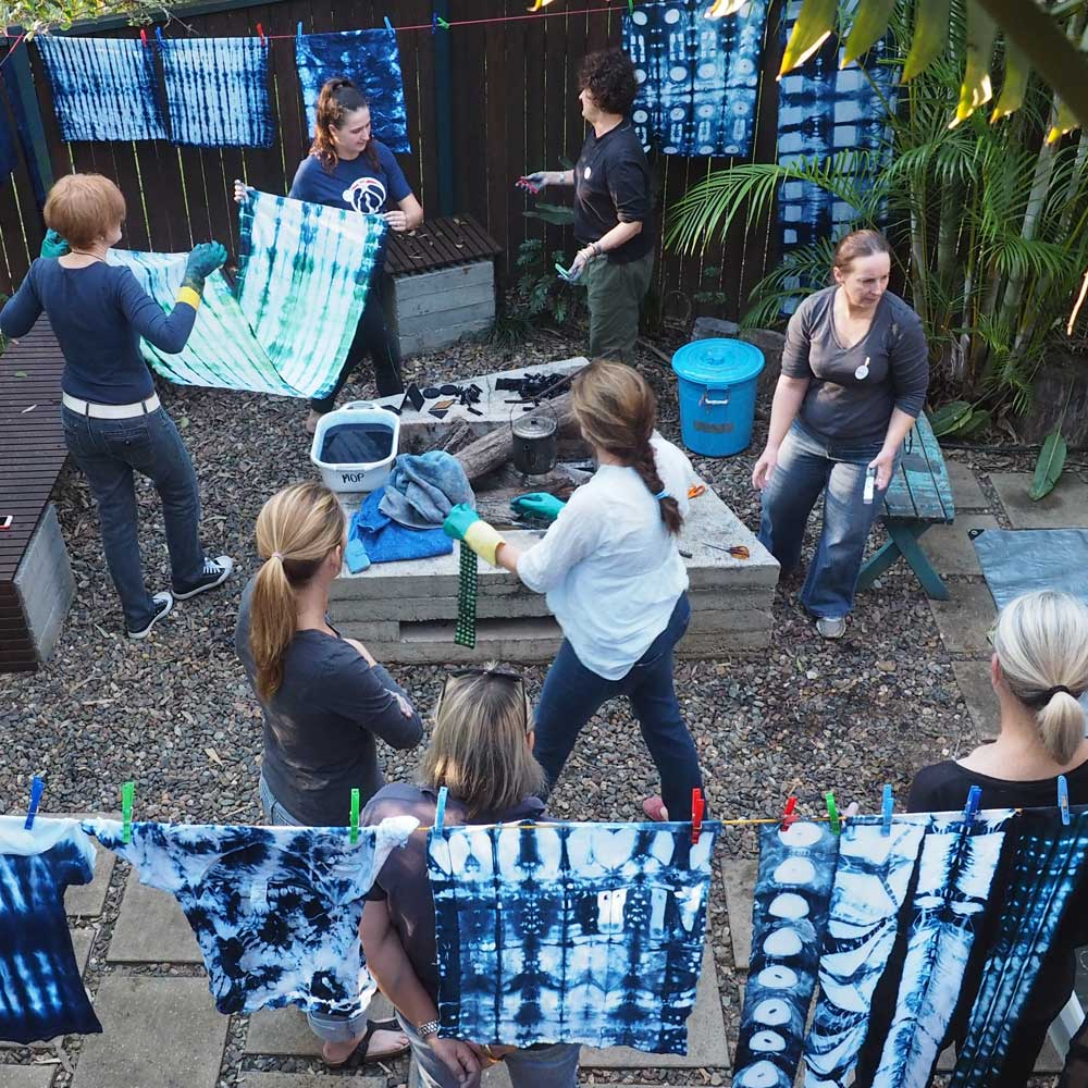 Action at the Shibori Workshop