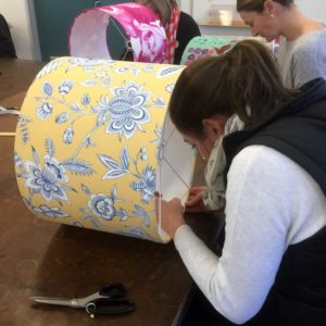 Head down and working hard. Fabulous fabric!