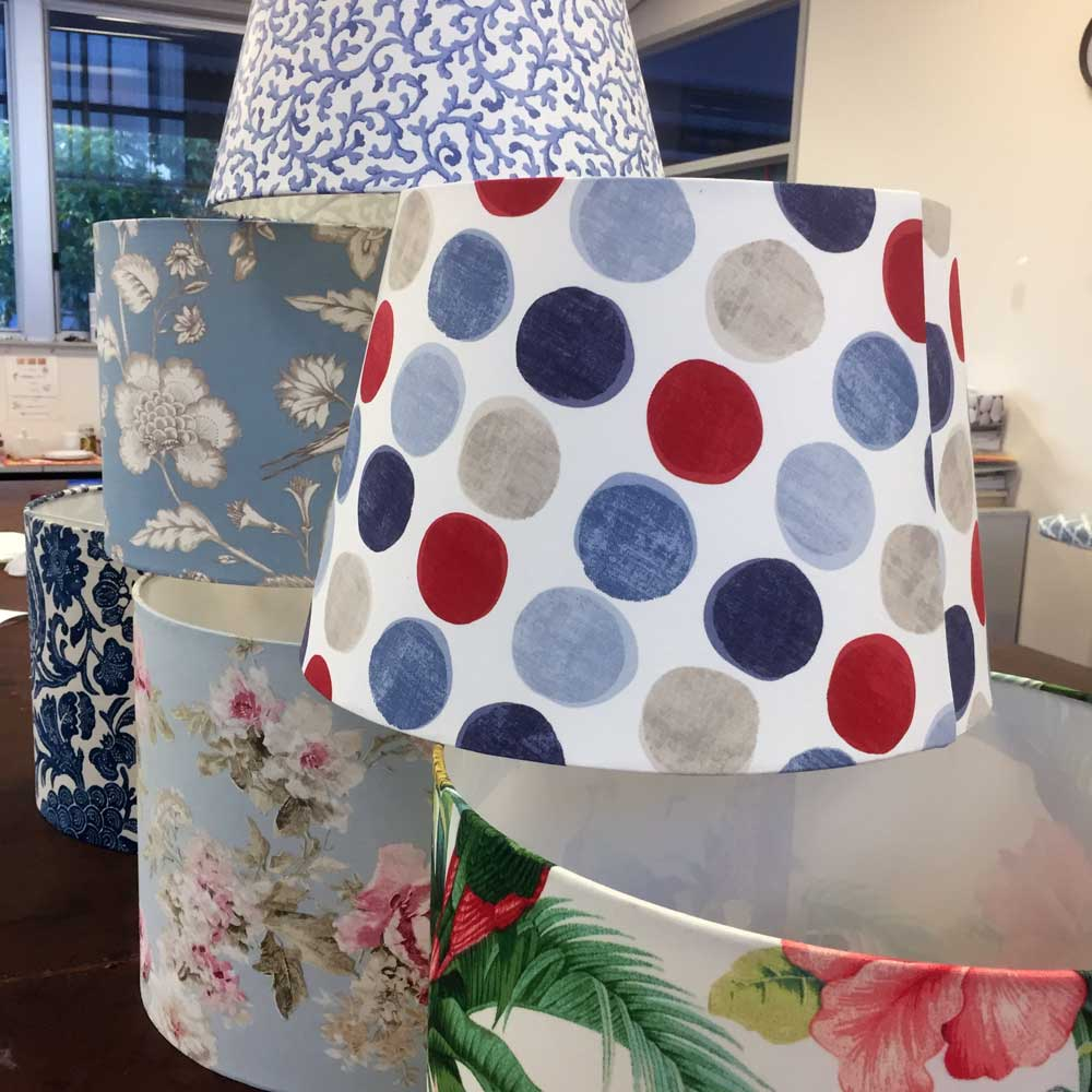 Pop! This lampshade brings joy to the room.