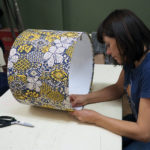 Reuse the fabric from other garments to make amazing lampshades