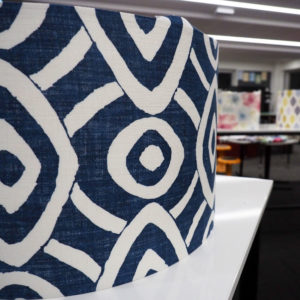 Stunning fabric - a beautiful lampshade is underway!
