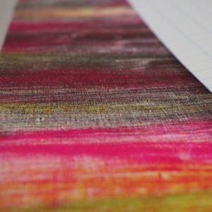 Hand printed fabrics are sensational