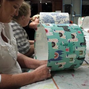 Ministry of Handmade teaching the professional way to make lampshades