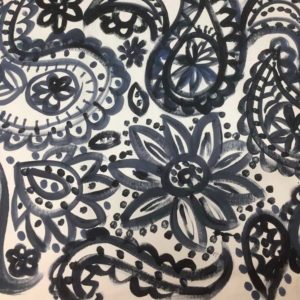 Beautiful hand printed fabric by Carolyn Ferguson of Fairway Studios