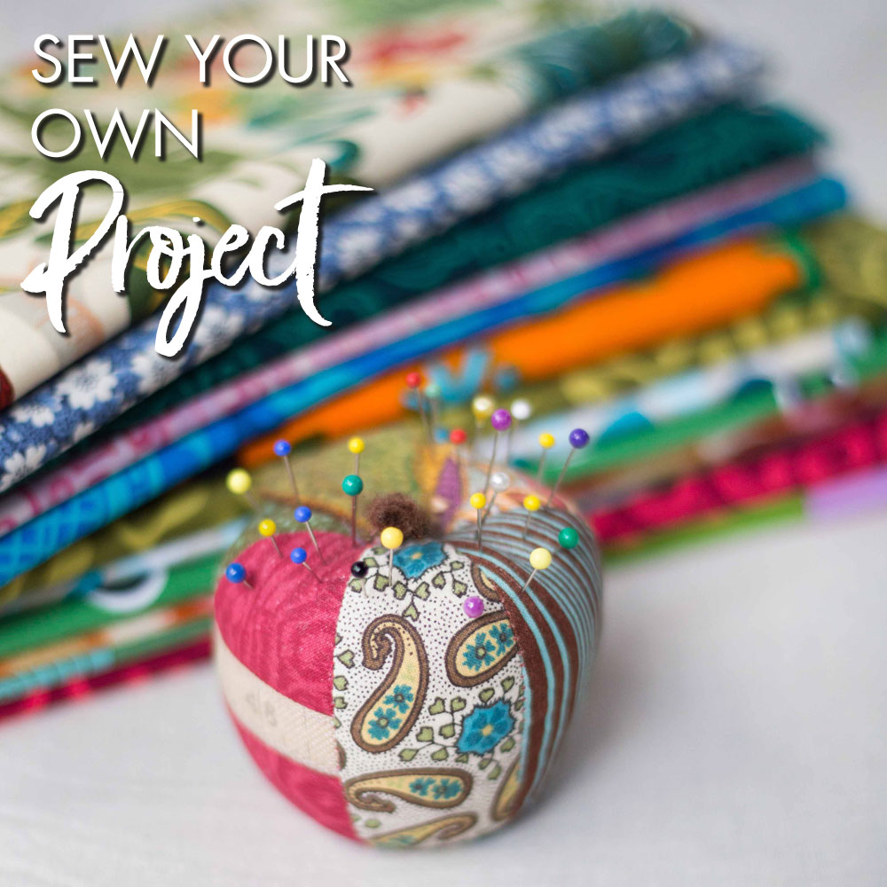 Sew your own project at Ministry of Handmade