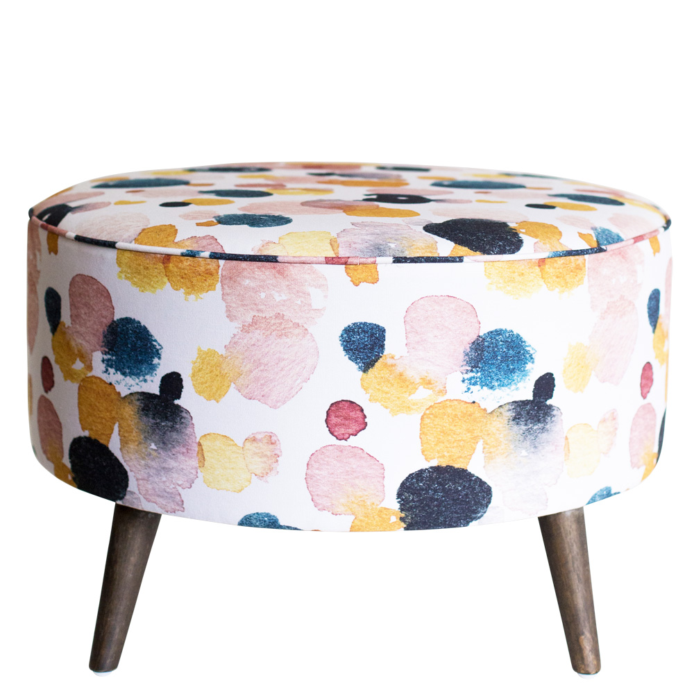 Ottoman Mustard Sprinkle by Cass Deller of Cass Deller Design - Side
