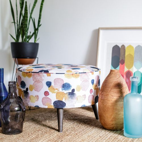 Ottoman Mustard Sprinkle by Cass Deller of Cass Deller Design - Styled