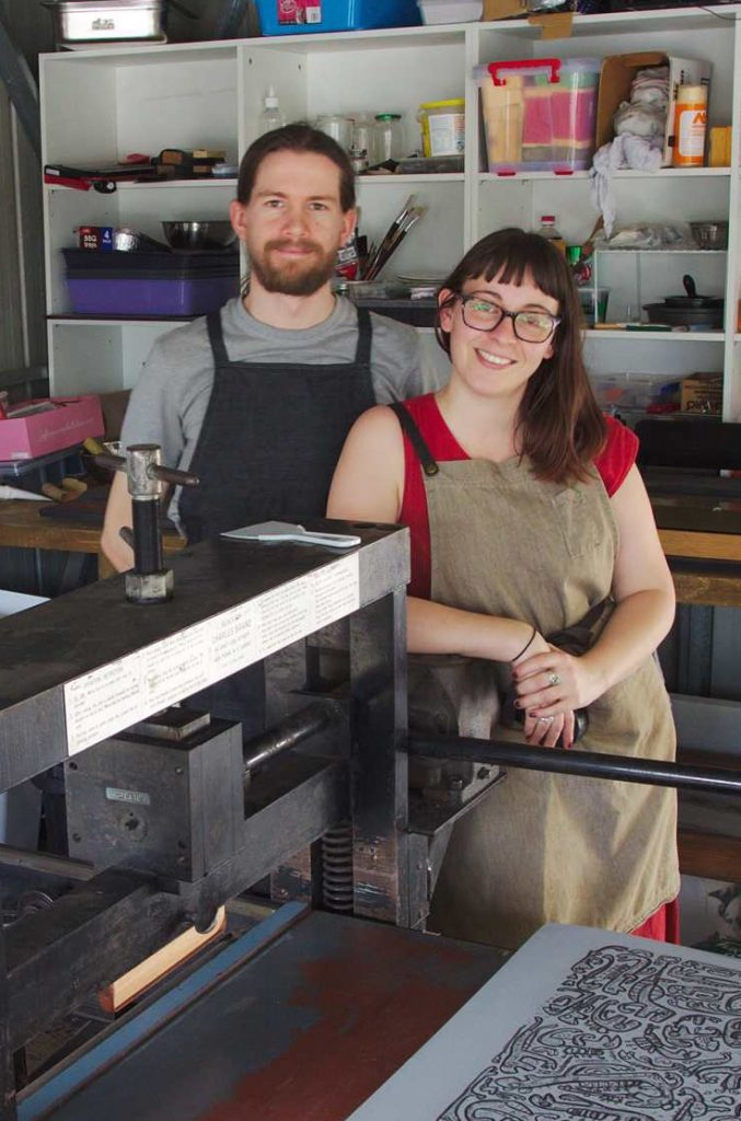 Chris and Claudia of Grey Hand Press