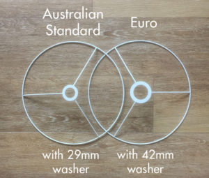 Lampshade ring washer sizes