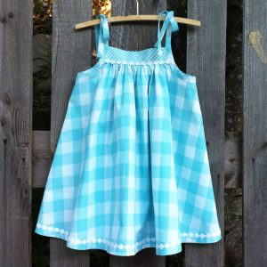 Daisy Dotgirls dress is a variant of the Mae Dress