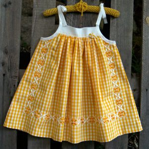 Georgina's Sunshine is a variant of the Mae Dress for girls