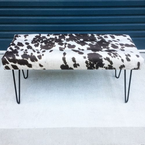 Cowhide Bench Seat