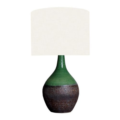 Green and textured lamp base