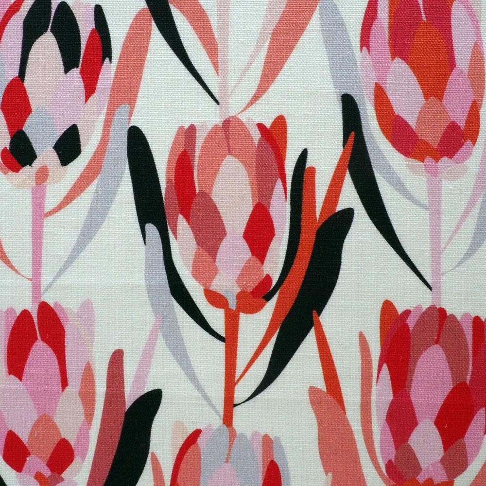 Protea - Red fabric