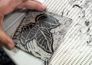 Lino Cut at Makers Escape Montville