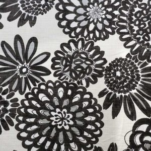 Genevieve Flower Pops Basketweave Fabric