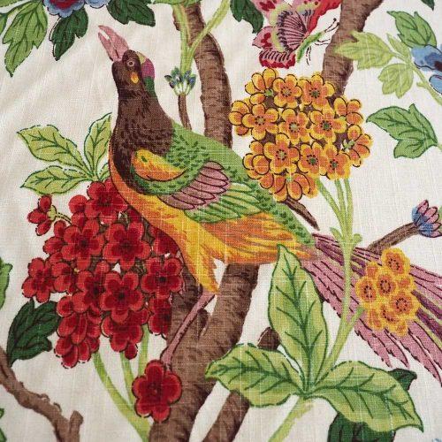 Pheasant fabric pheasant detail