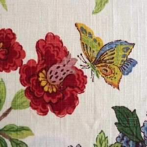Pheasant fabric butterfly detail
