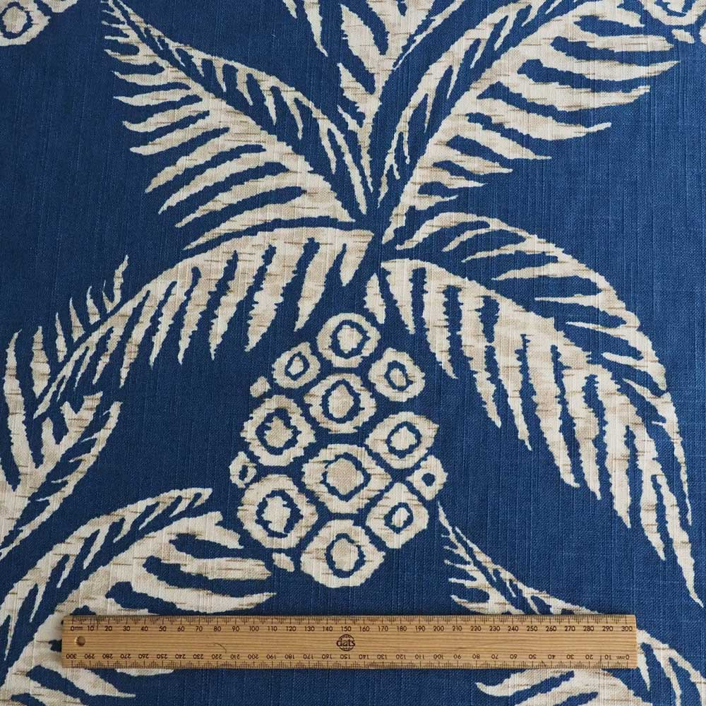 Pina Pineapple Navy Fabric
