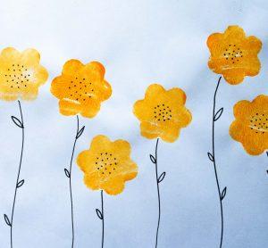 School Holiday Workshop - Creative Potato Printing - Flowers