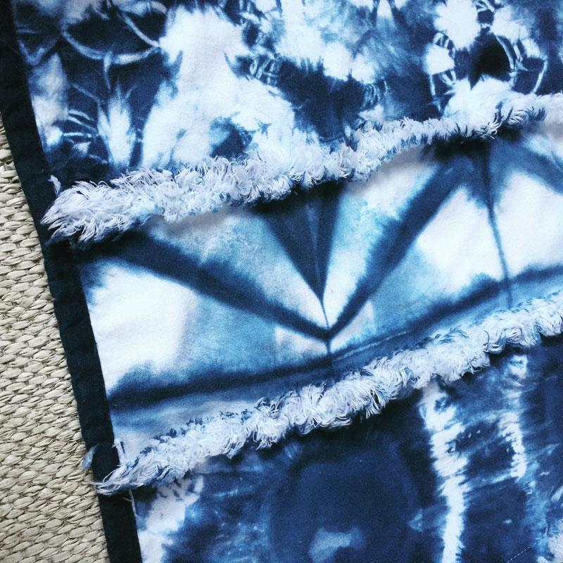 Shibori quilt using the contemporary shaggy method