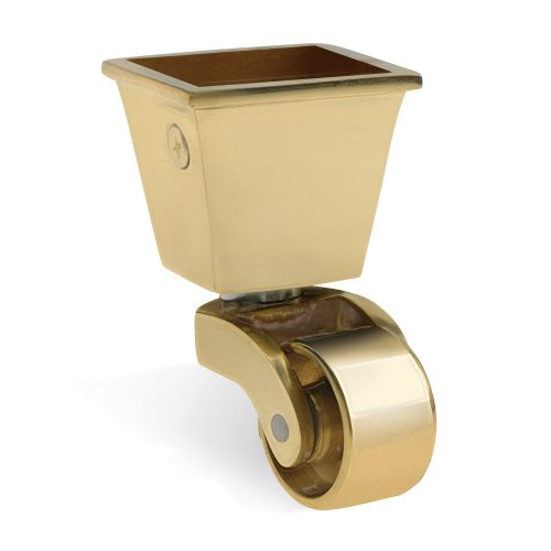 Brass Caster Cup - 32mm square supplied by Warwick