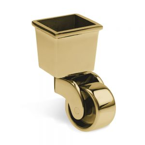 Brass Caster Cup - 37mm square supplied by Warwick