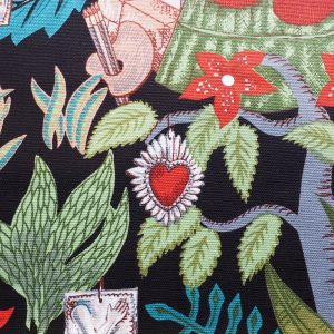 Ministry of Handmade fabric - Frida Kahlo on black background