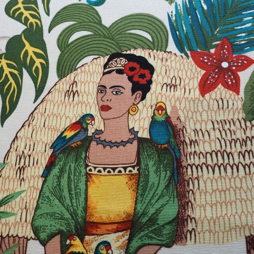 Ministry of Handmade fabric - Frida Kahlo on white background