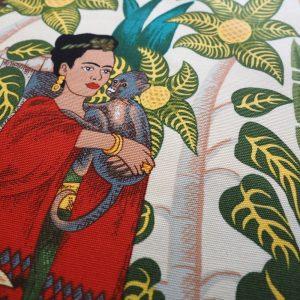 Ministry of Handmade fabric - Frida Kahlo on white background