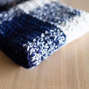 Gingham Crochet Throw
