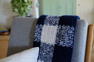 Gingham Crochet Throw