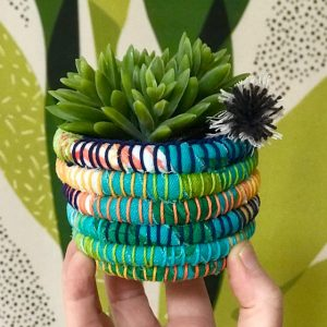 Recycled Fabric Basket - small