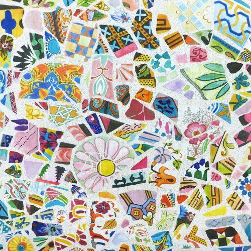 Fabric Crazy Ceramics Detail