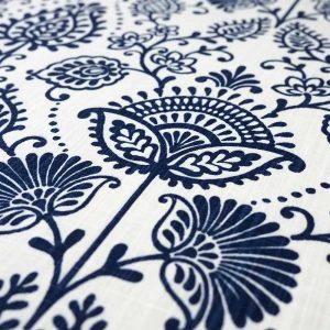 Fabric Navy Fleur d'Elegance