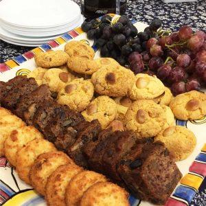 Ginger and Macadamia Cookies, Banana Bread