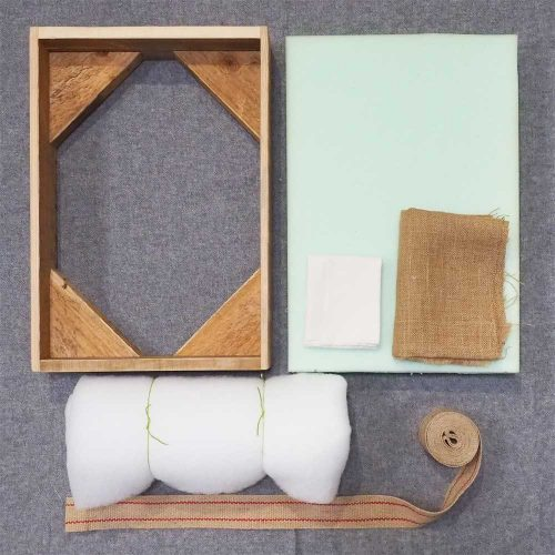DIY footstool kit complete with frame