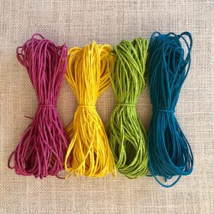 Hemp cord for basket coiling