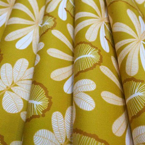 Fabric - Mustard Banksia