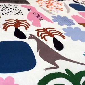 Kangaroos in the Valley fabric