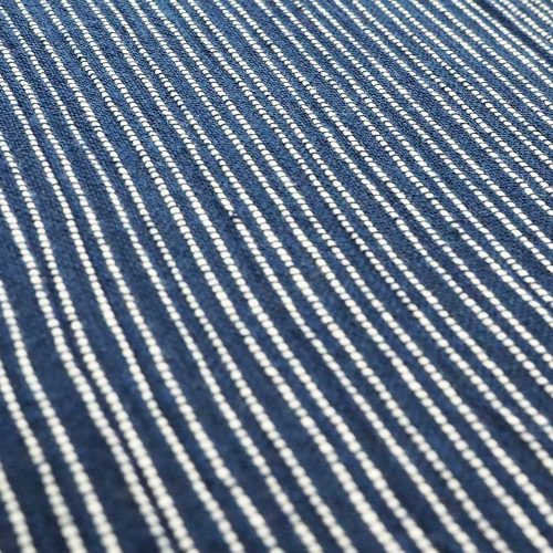 Classic Navy Crinkle soft fabric