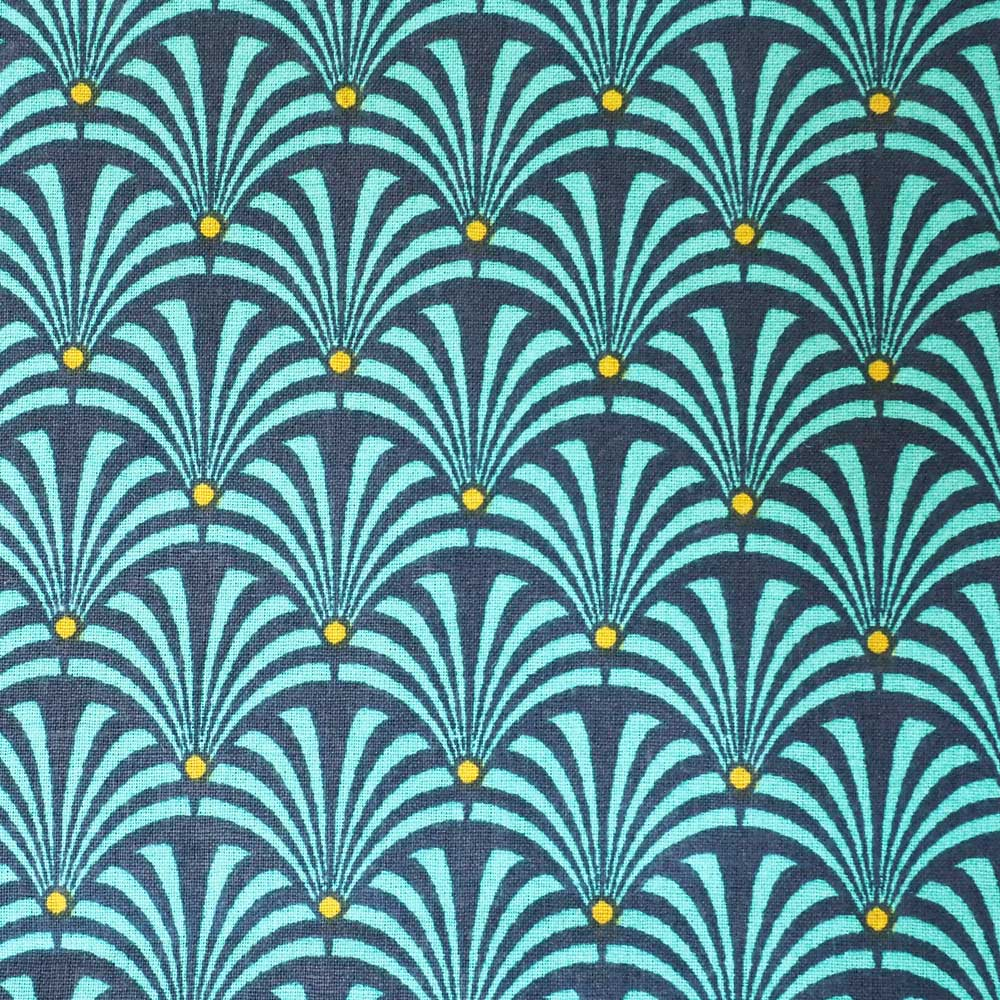 Gustave Teal Fabric