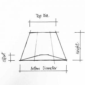 Lampshade empire frame sketch