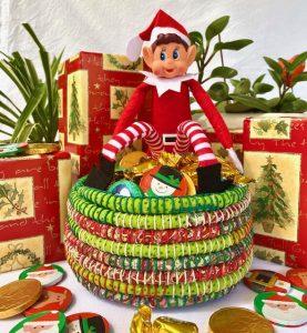 Christmas basket coiling